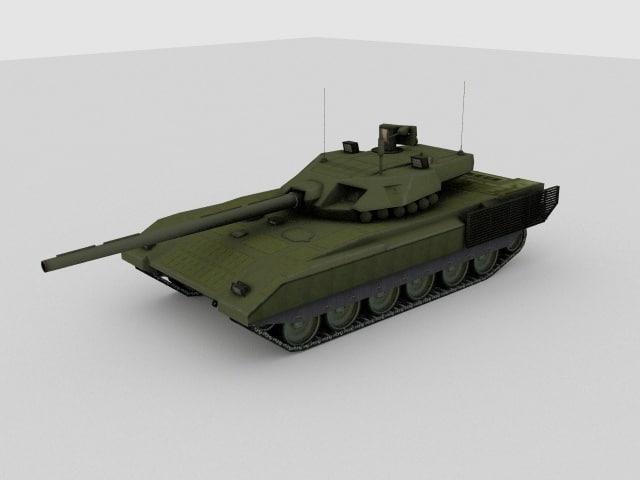 3d t-14 armata russian tank