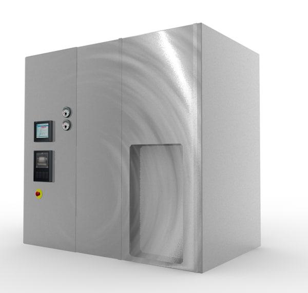 3d model of autoclave sterilization pharmaceutical