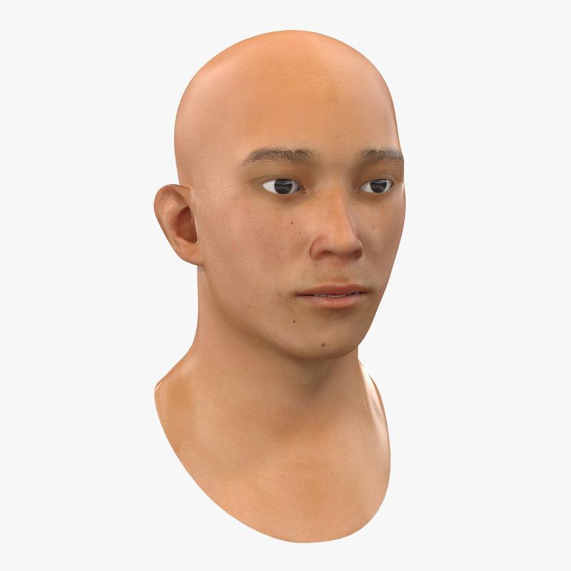 3ds asian male head