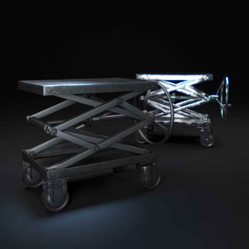 industrial-scissor-lift-table 3d model