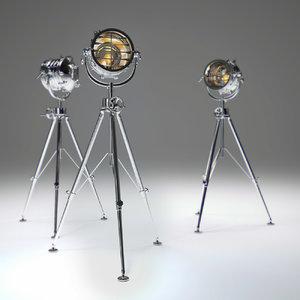 3ds max royal-master-sealight-floor-lamp-aluminum