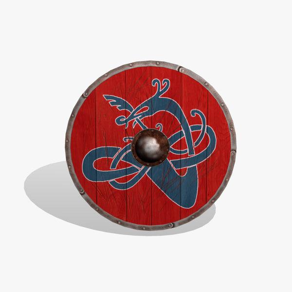 obj viking shield