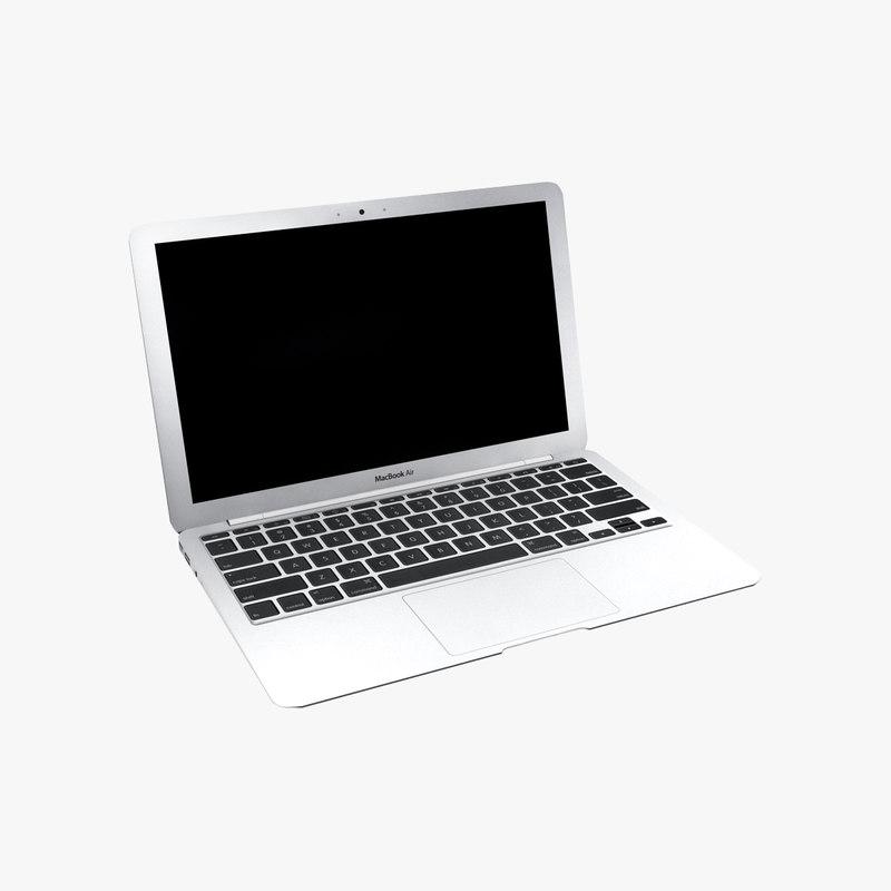 mac book air 3d model