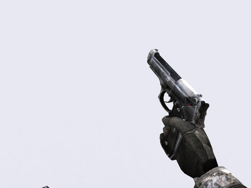 3d 3ds modern firearms - m9 pistol