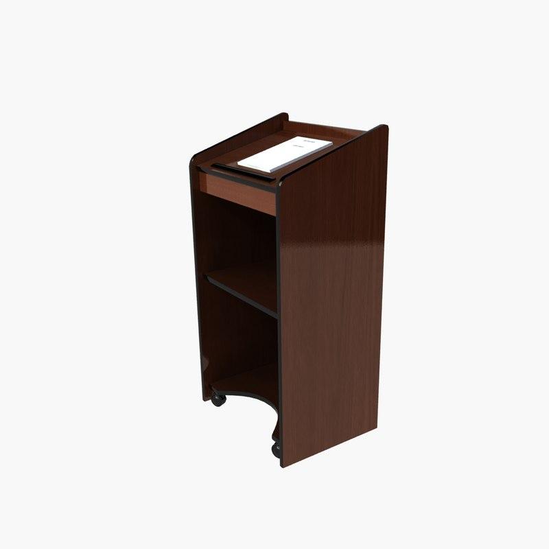 wooden podium 3d max
