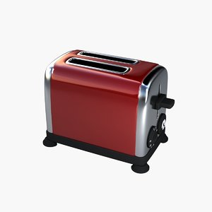 3d red toaster model