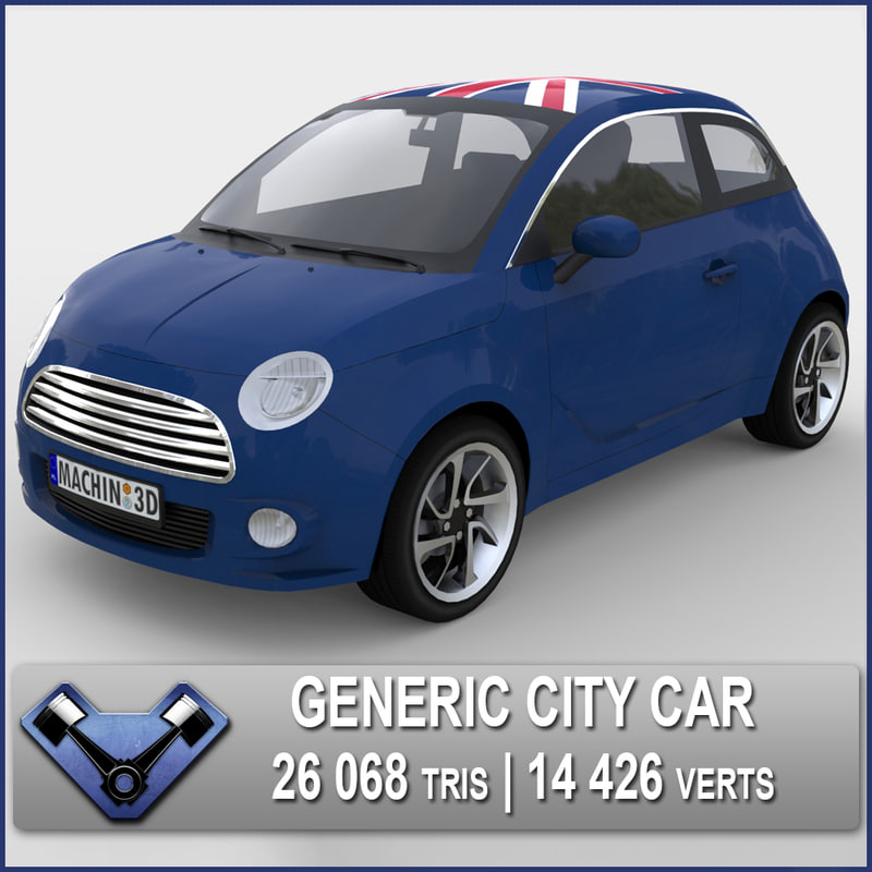 3d generic city car atom model