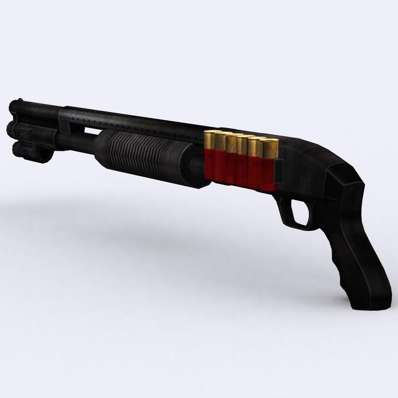 3ds - shotgun mossberg 500