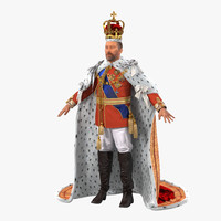 King 3D Model with Fur