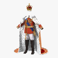 Royal King Costume 3D Model