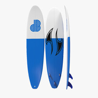 Surfboard Longboard 3D Model