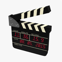 3d 3ds digital clapboard modeled
