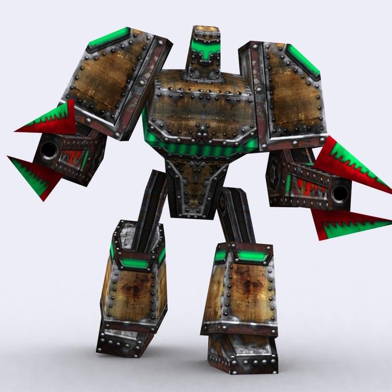 3d warbot bot mechanoid