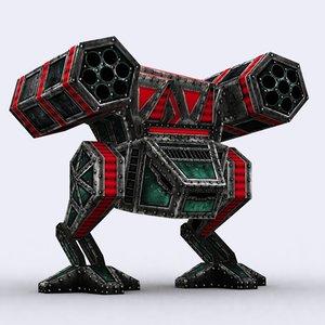 3ds max warbot mechanoid - chicken