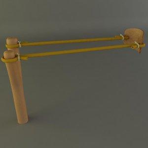 sling slingshot shot 3d model