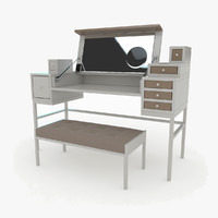 schoenbuch collect table bench 3d 3ds