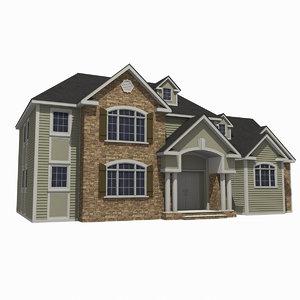 3d - mansion house 1 model