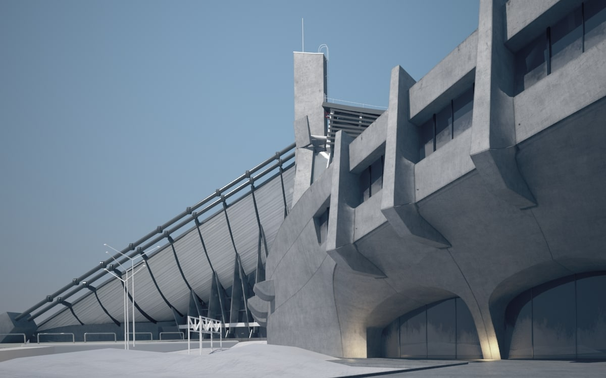 structure yoyogui national gimnasium 3d max