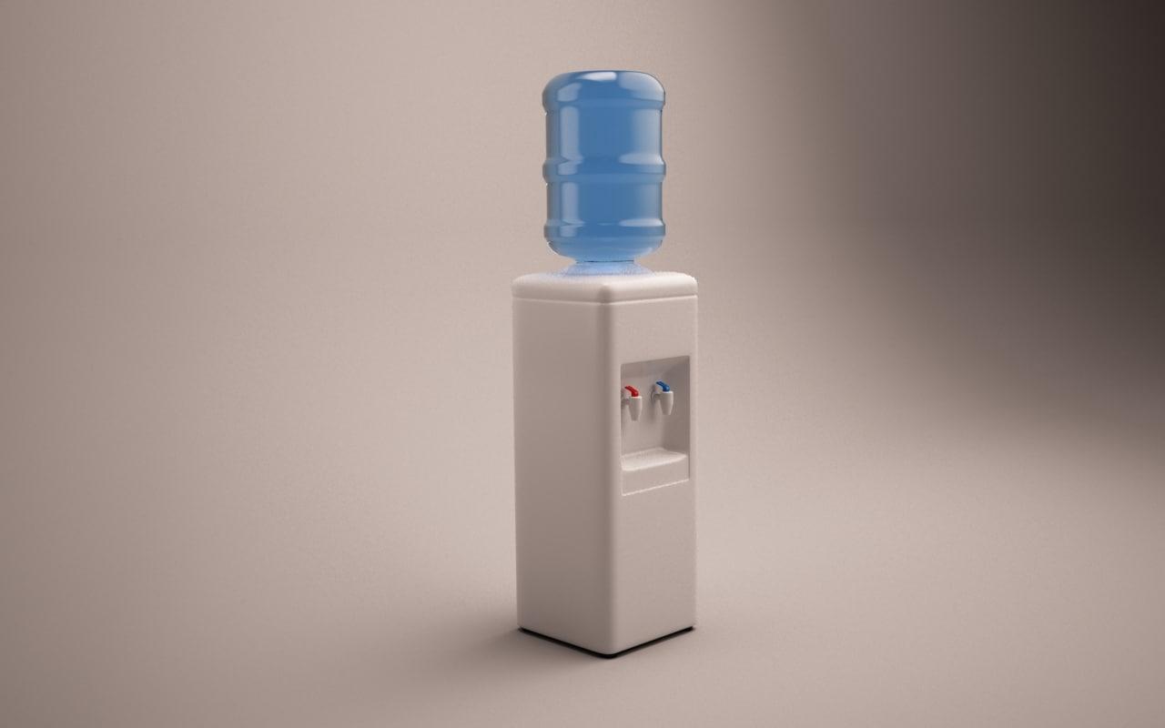 watercooler water cooler 3d max
