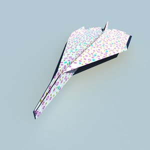 3d paper airplan decoration model