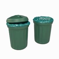 Realistic Plastic Dustbin