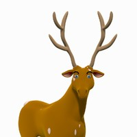 3d max reindeer rigged