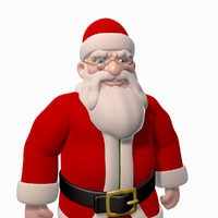 santa claus cartoon rigged character 3d max