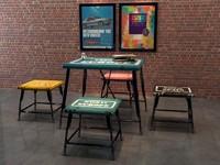 3d max loft table chair
