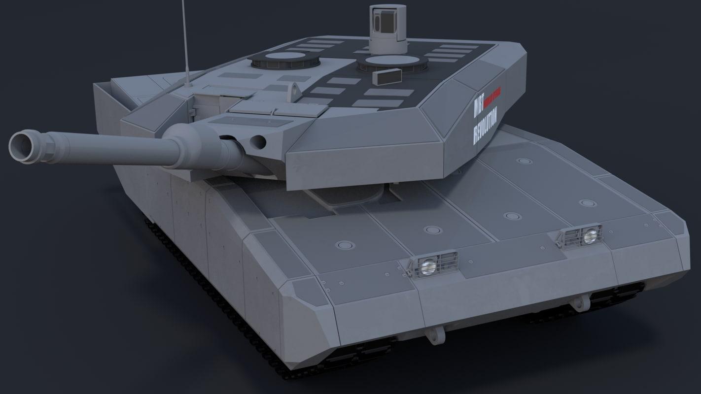 3d leopard mbt revolution model