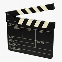 3d clapboard modeled