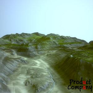 3d hills cliffs terrain
