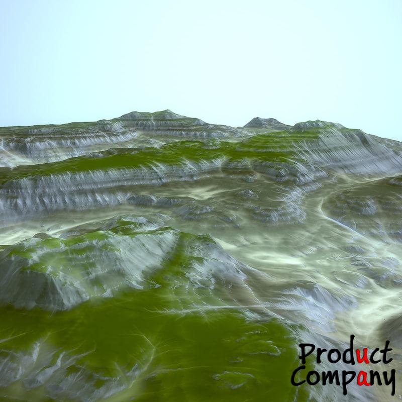 Maya Hills Cliffs Terrain
