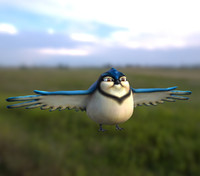 cute fat cartoon bird 3d x