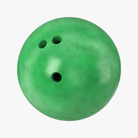 obj bowling ball green modeled