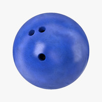 3d bowling ball blue
