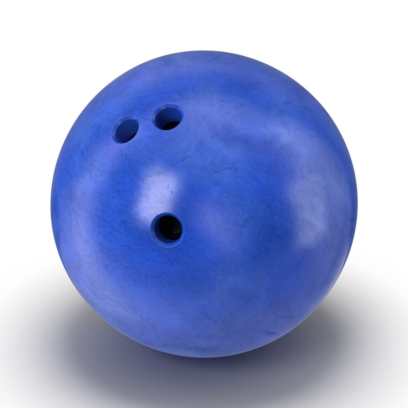 3d bowling ball blue