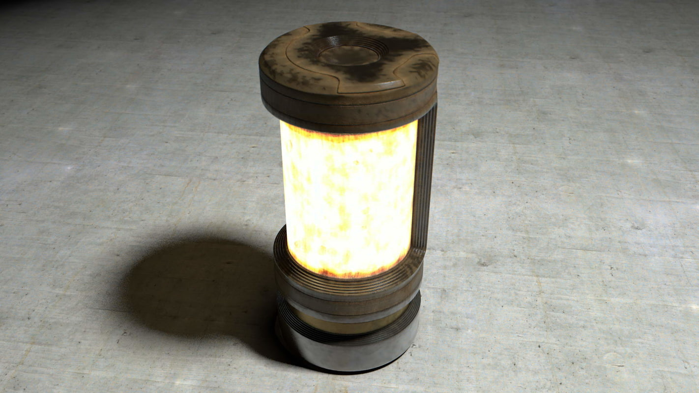 obj cylindric lamp