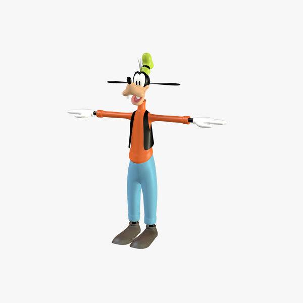 3d goofy character cartoon