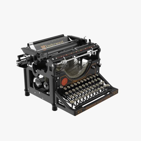 max retro underwood typewriter