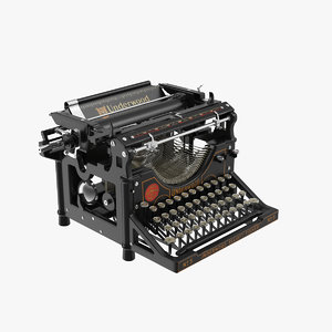 max retro underwood typewriter