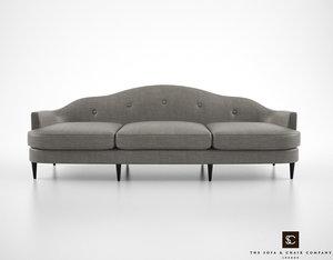 3d model sofa chair company bernini