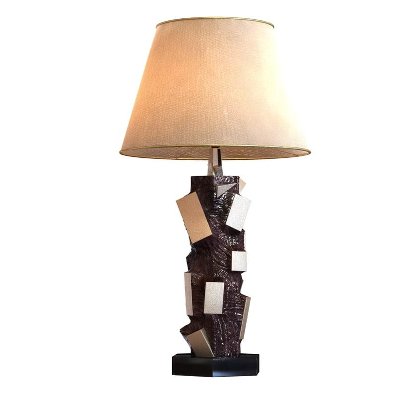 lamp bronze marble 3d max