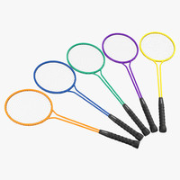 badminton racket 2 3d model