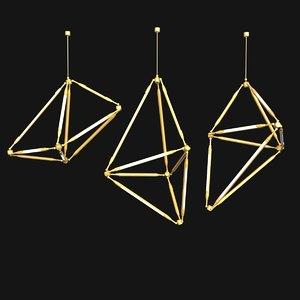 lamp light shy 18 3d model