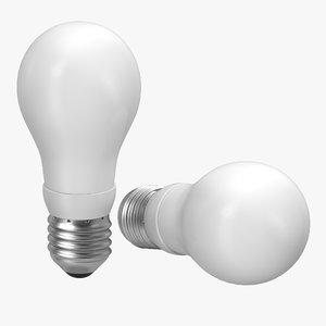3d model energy saving light bulb