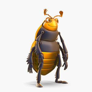 3d model funny beetle