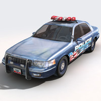 3ds car police supervisor