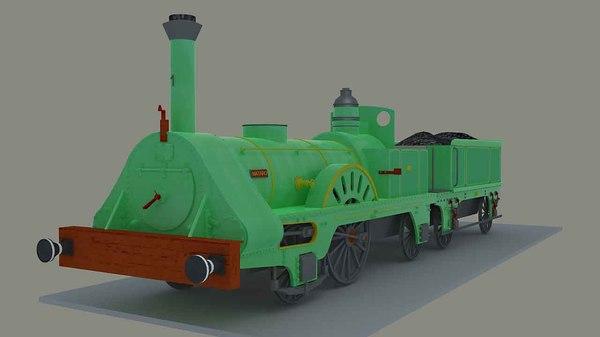 3d max steam locomotive