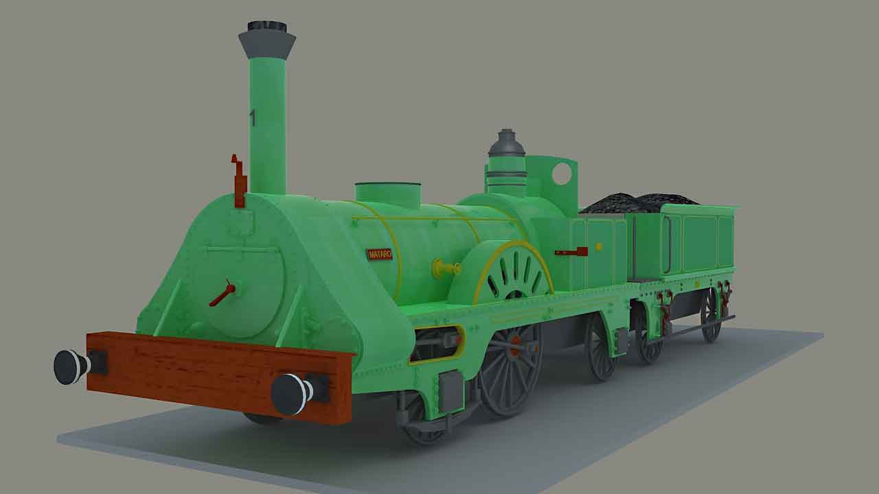 3d max steam locomotive