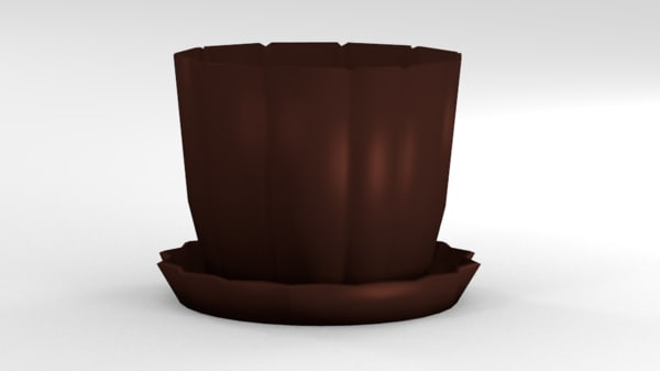 free 3ds mode flower pot